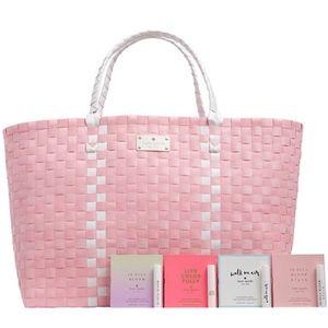 Kate Spade ♠️ Pink Woven Tote Beach Bag Purse NEW